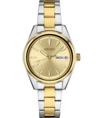 seiko women's essential two-tone stainless steel bracelet watch 29.8mm