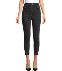 neon blonde women's high-rise jeans - storm - size 24 (0)