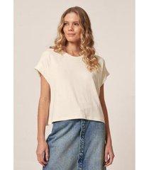 camiseta ampla malha moletinho - feminina - feminino