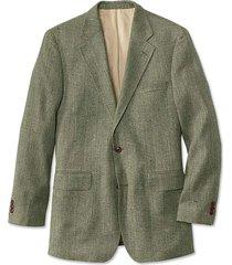 silk tweed sport coat / long, sage, 40
