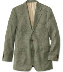 silk tweed sport coat / long, sage, 40