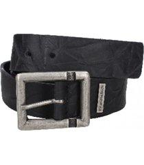 cinturón cuero desgastado negro panama jack