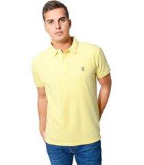 camiseta tipo polo jack supplies tela pique para hombre - amarillo