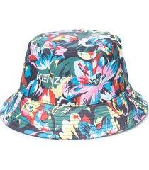 kenzo floral print bucket hat - green