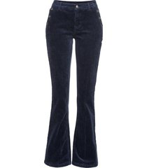 pantaloni in velluto elasticizzato bootcut (blu) - bodyflirt