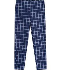 pantalon cuadros mujer color azul, talla 10