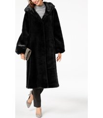 jones new york hooded faux-fur coat