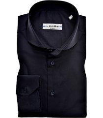ledub overhemd donkerblauw slim fit stretch