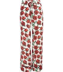 alice+olivia meera straight-leg trousers - white