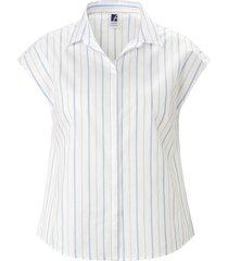 blouse iets verlaagde schoudernaden van anna aura wit