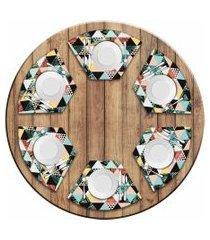 jogo americano love decor  para mesa redonda wevans exotic kit com 6 pçs