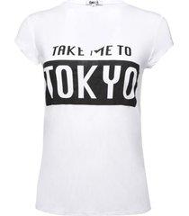 camiseta cuello choker tokyo color blanco, talla 12