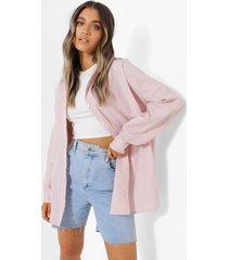 oversized gestreepte blouse, taupe