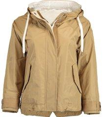 cropped taffeta cinched waist jacket