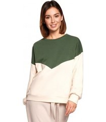sweater be b196 colourblock pullover top - model 2