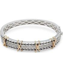effy women's 18k yellow gold embossed bangle bracelet