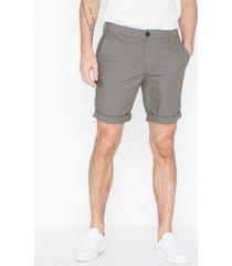 selected homme slhstraight-paris mix shorts w shorts ljus grå