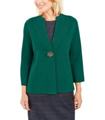 jm collection holiday party brooch cardigan, created for macy's