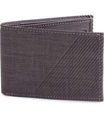 billetera textura lineas tono gris color negro, talla uni