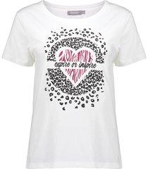 "geisha 12086-25 010 t-shirt ""expire or inspire"" s/s off-white"