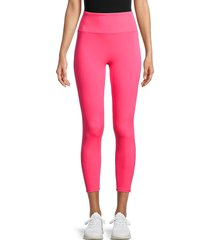 activology women's laser-perforated leggings - pink - size xl