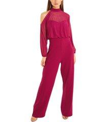 quiz cold-shoulder palazzo-leg jumpsuit