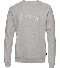 track sweatshirt - tan sweat-shirt trui grijs forét