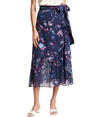 angelina floral wrap skirt
