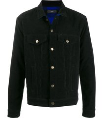 alanui embassy corduroy jacket - black