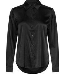 3176 - latia overhemd met lange mouwen zwart sand