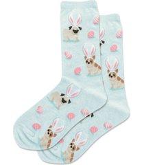 hot sox bunny dogs crew socks