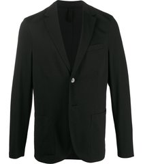 harris wharf london textured relaxed blazer - black