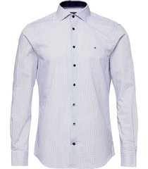 mini prt slim shirt skjorta business blå tommy hilfiger tailored