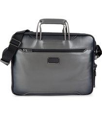 tumi men's arrive exclusive hannover slim briefcase - grey