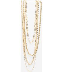 womens 4 layer chain necklace - gold