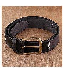 men's leather belt, 'suave style' (india)