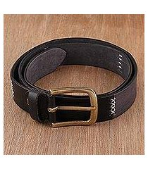 men's leather belt, 'suave style' (india)