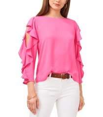 vince camuto ruffle-sleeve top