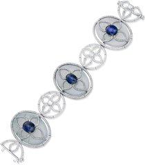 blue sapphire, diamond and jade bracelet