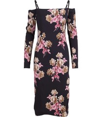 blumarine polyester floral print midi dress