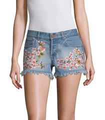 embroidered vintage shorts