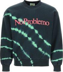 aries sweatshirt with no problemo neon print
