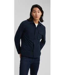 chaqueta sobrecamisa hombre azul oscuro esprit