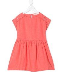 andorine stud-embellished linen dress - pink