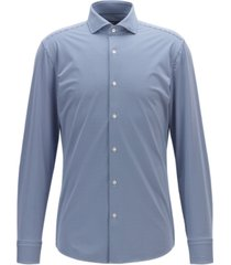 boss men's jason slim-fit checked italian performance-stretch shirt