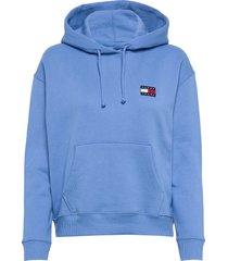 tjw tommy badge hoodie hoodie blå tommy jeans