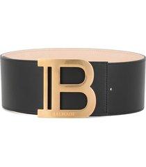 balmain leather b-belt