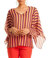 trina turk women's california dreaming la paz striped top - multi stripe - size xs