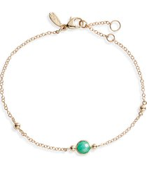 anzie bonheur emerald bracelet, size 7 in in yellow gold/green at nordstrom