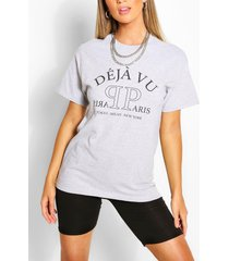 deja vu printed t-shirt, grey